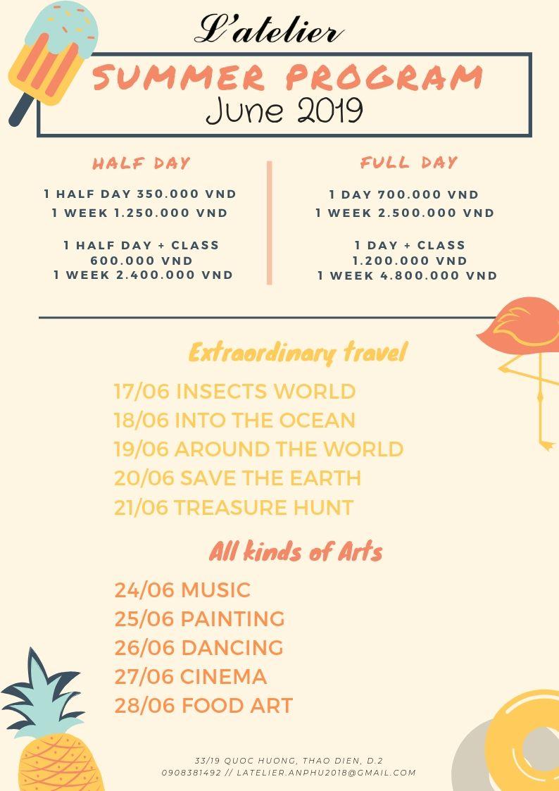 June Activities Atelier