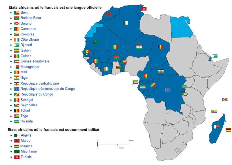 Pays francophones d'Afrique